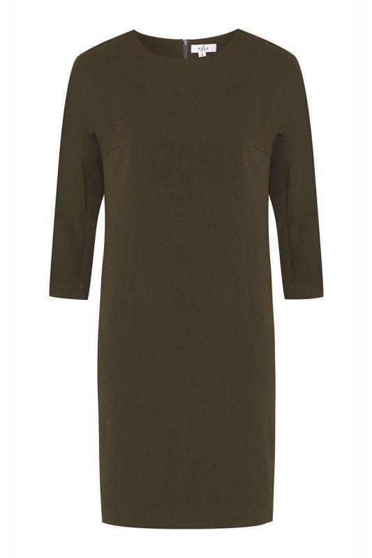 Schickes Herbstkleid in Olivgrün