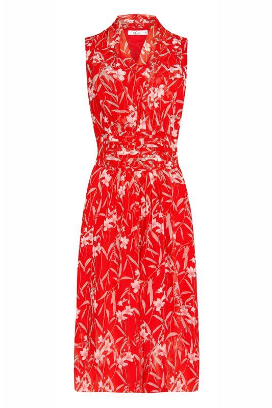 Rotes Sommerkleid mit Schleife am Rücken