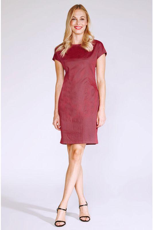 Etuikleid aus Baumwolle in Rot