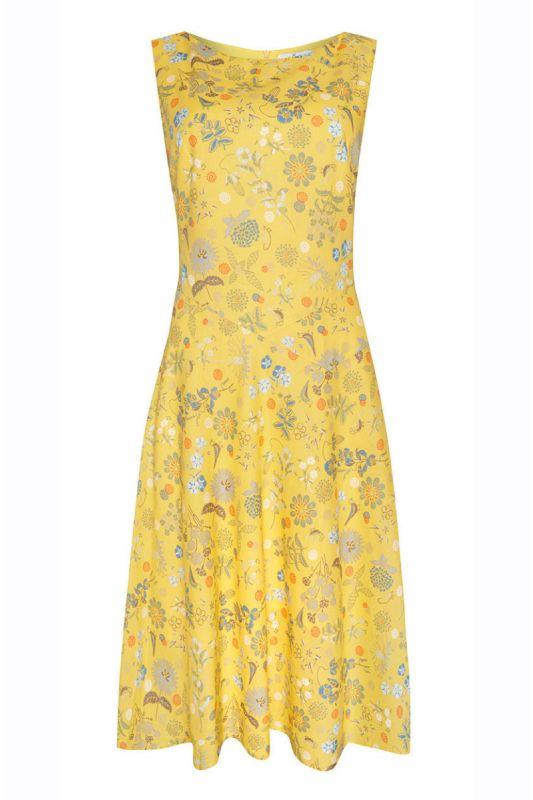 Feminines Baumwollkleid in Gelb