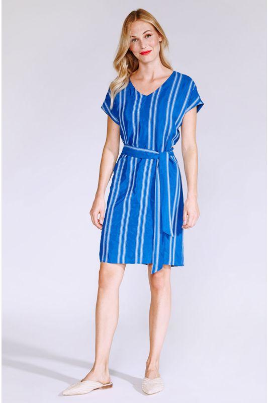 Blaues Streifenkleid
