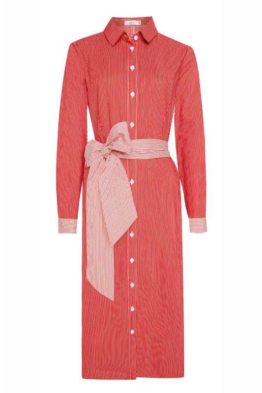 Modernes Blusenkleid mit Gürtel