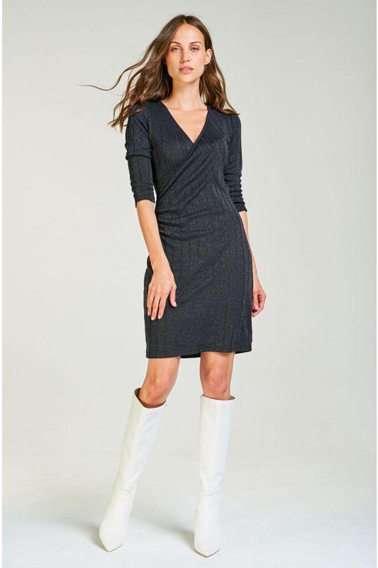 Jerseykleid mit Wickeloptik