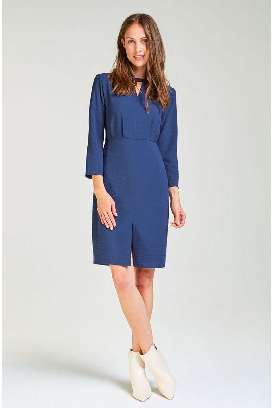Schickes, tailliertes Kleid mit 3/4 Arm