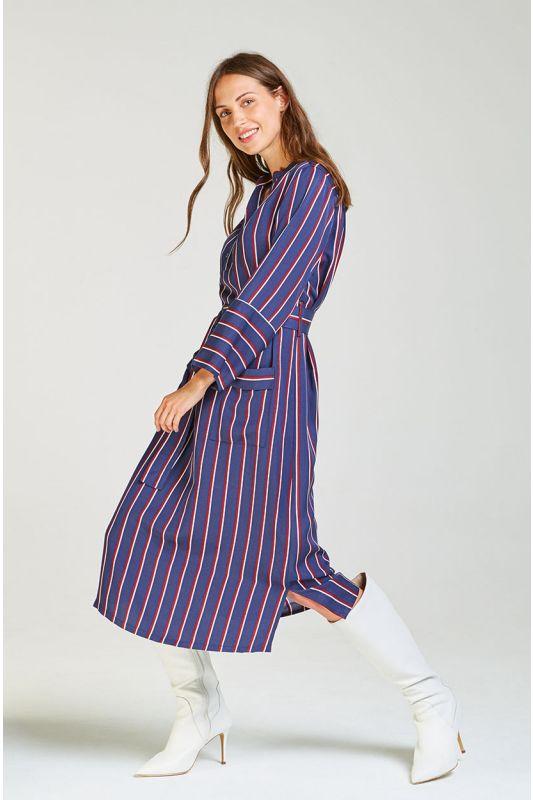 Blusenkleid mit raffiniertem Kragen
