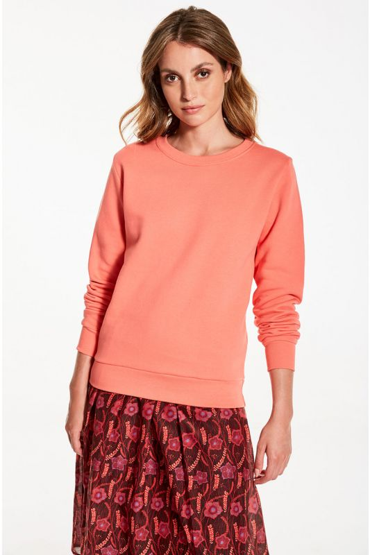 Sweatshirt aus GOTS zertifizierter Bio-Baumwolle in Coral Farbe