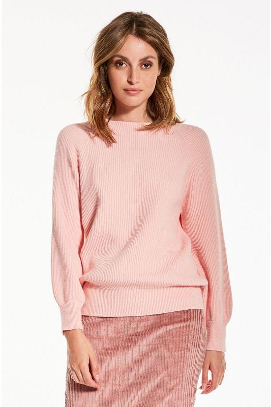 Strick-Pullover in Rosa
