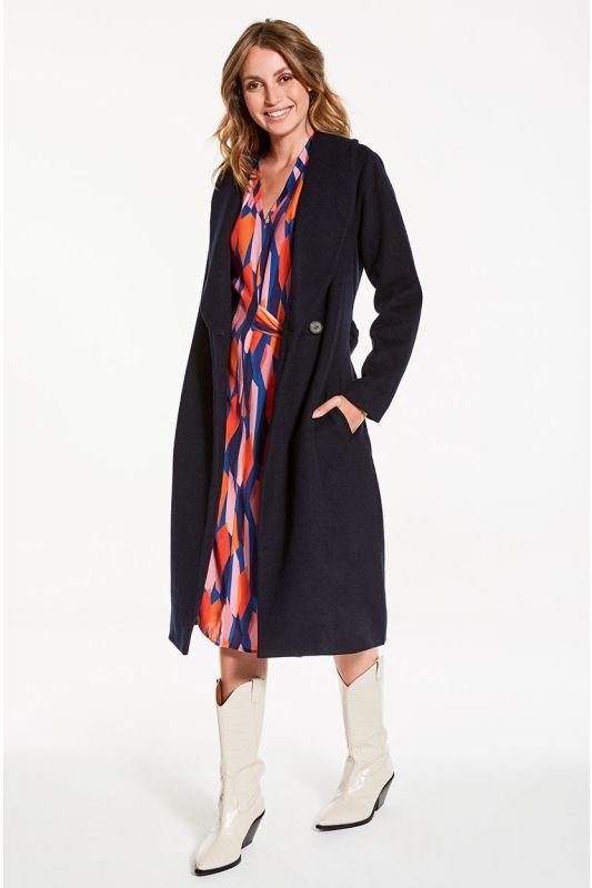 Kleid Langarm mit Abstract-Muster