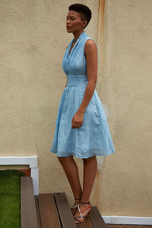 Kleid mit Small Flowers Muster
