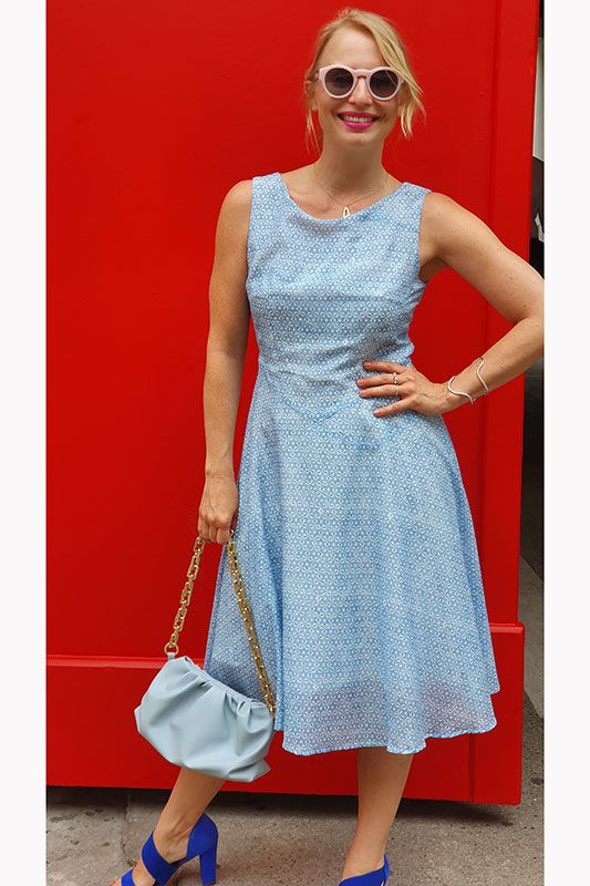 A-Linie Kleid mit Small Flowers Muster