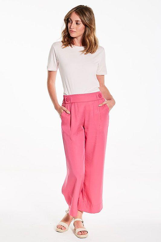 Weite Sommerhose in Pink