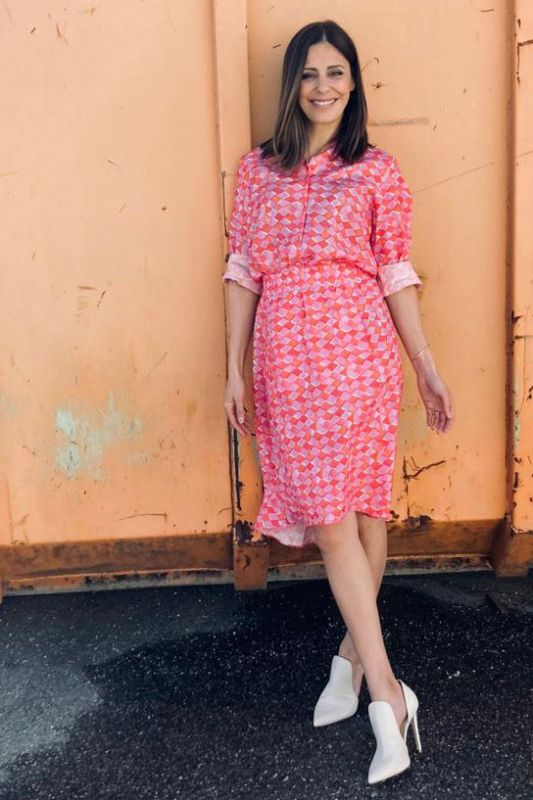 Bluse mit Pink Muster