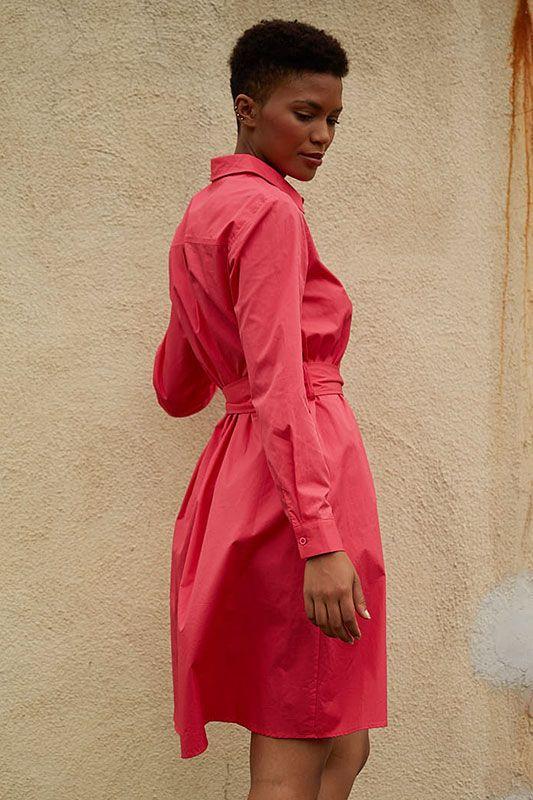 Kleid aus Baumwolle im Hemdschnitt