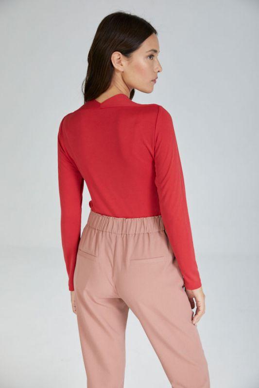Hose mit Gürtel in Rose
