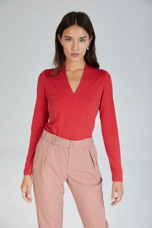 Langarm-Top in Rot