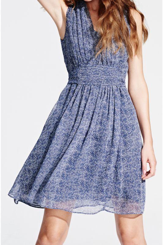 Sommerkleid mit Schleife am Rücken in blue splinters