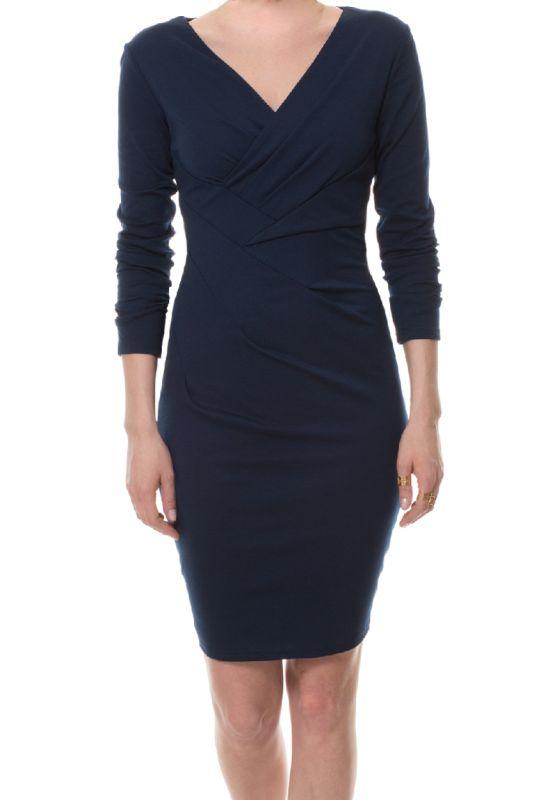 Jersey Kleid in Dunkelblau