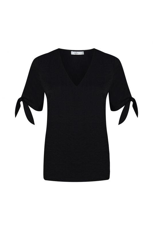 Schleifen-Top in black