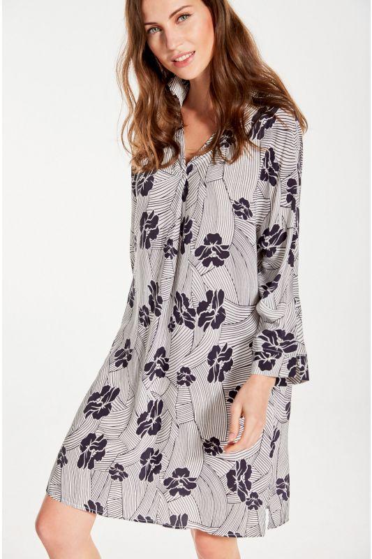 Tunikakleid mit Arm und Blumenmuster