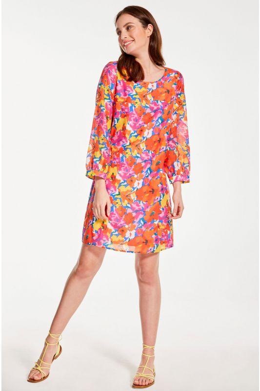 Kleid mit leuchtendem Blumenmuster