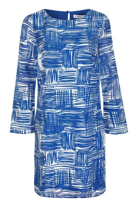 Elegante Langarm-Tunika aus Baumwollseide