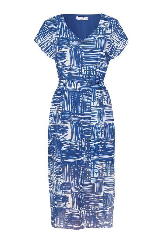 Langes Sommerkleid aus Baumwollseide