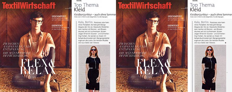 TextilWirtschaft empfiehlt KALA Berlin als führendes Label für Kleider